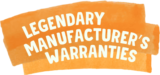Legendary manufacturer's warranties