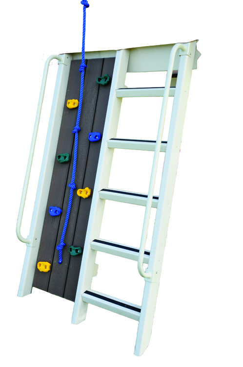 5 ft climbing wall ladder combo