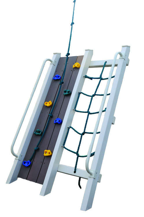 5 or 7 ft climbing wall cargo net combo