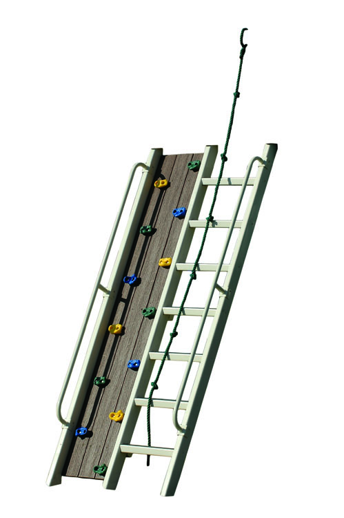 7 ft climbing wall ladder combo
