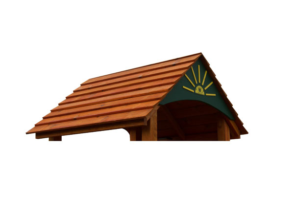 clapboard roof